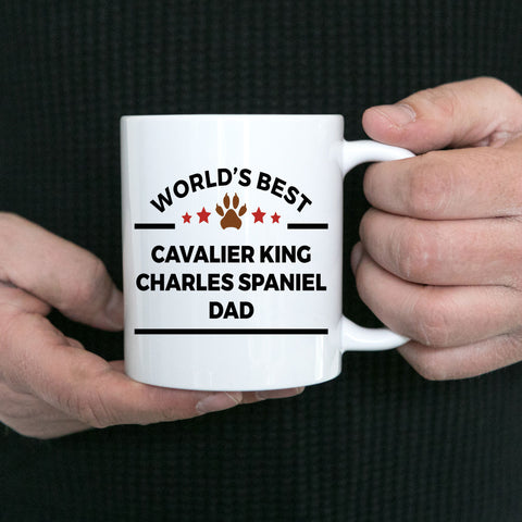 Cavalier King Charles Spaniel Dog Lover Coffee Mug World's Best Dad Gift for Father's Day or Birthday