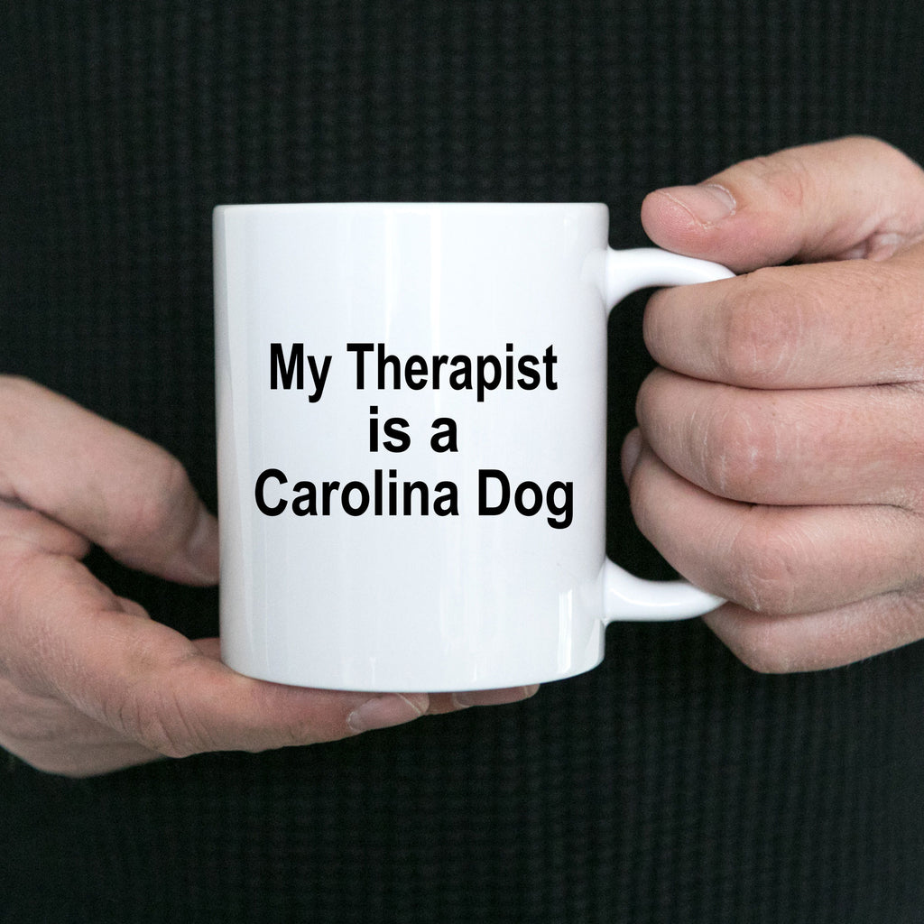 Carolina Dog Owner Lover Funny Gift Therapist White Ceramic Coffee Mug