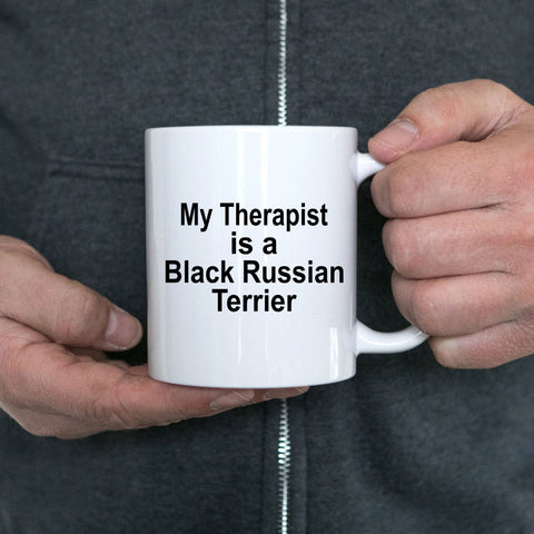 Black Russian Terrier Dog Therapist Coffee Mug