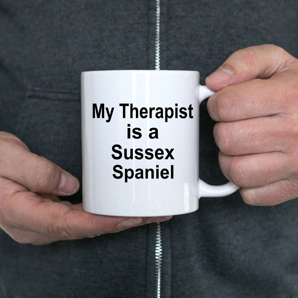 Sussex Spaniel Dog Owner Lover Funny Gift Therapist White Ceramic Coffee Mug
