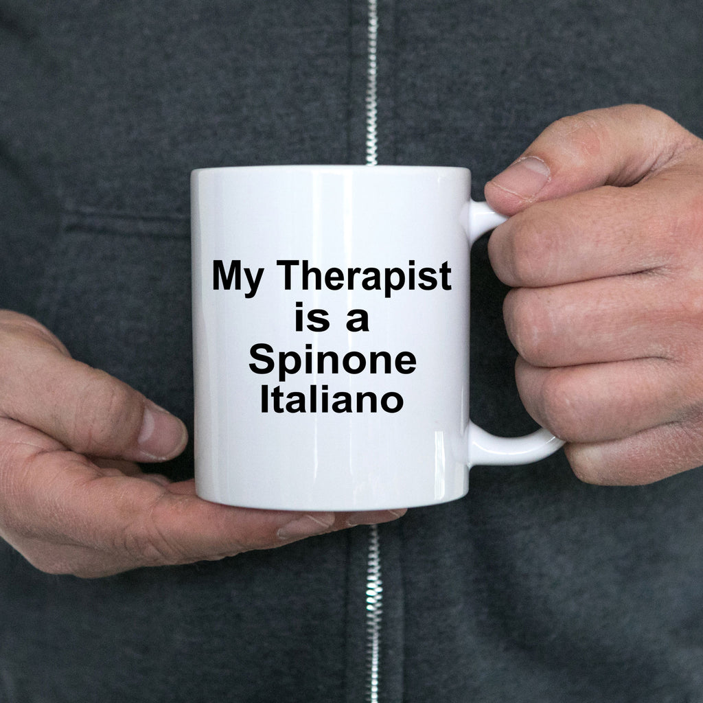 Spinone Italiano Dog Owner Lover Funny Gift Therapist White Ceramic Coffee Mug