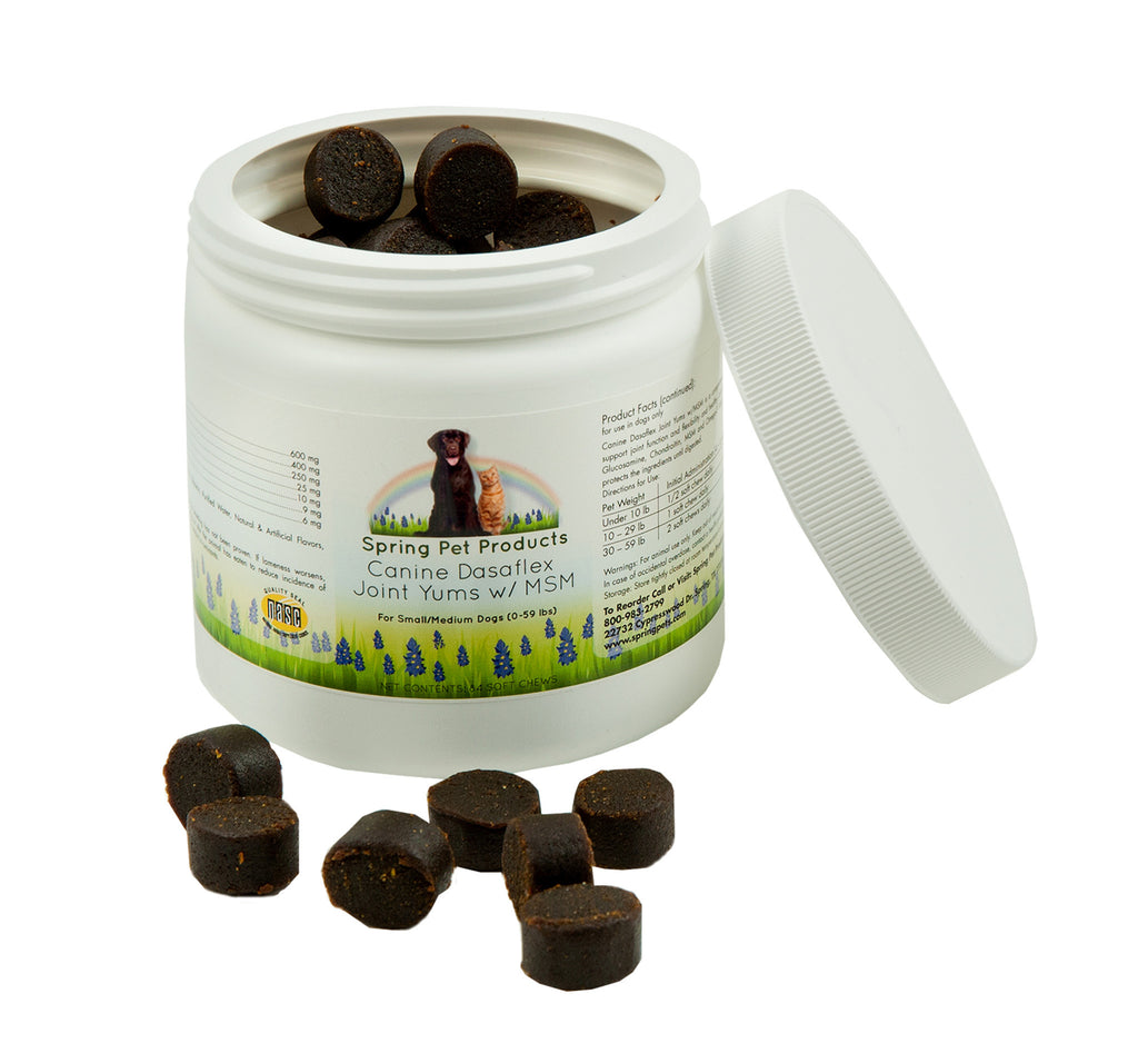 Canine Dasaflex Joint Support Yums w/ MSM, Glucosamine,Chondroitin,Turmeric,Bosweilla,EPA and DHA