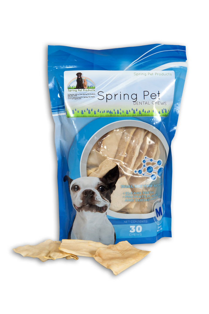 Spring Pet Dual Enzyme Action Beef Hide Dental Chews For Dogs