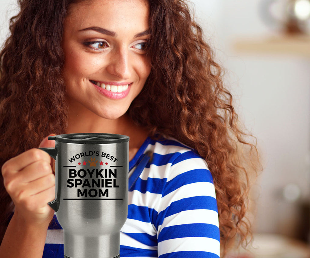 Boykin Spaniel Dog Lover Gift World's Best Mom Birthday Mother's Day Stainless Steel Insulated Travel Coffee Mug