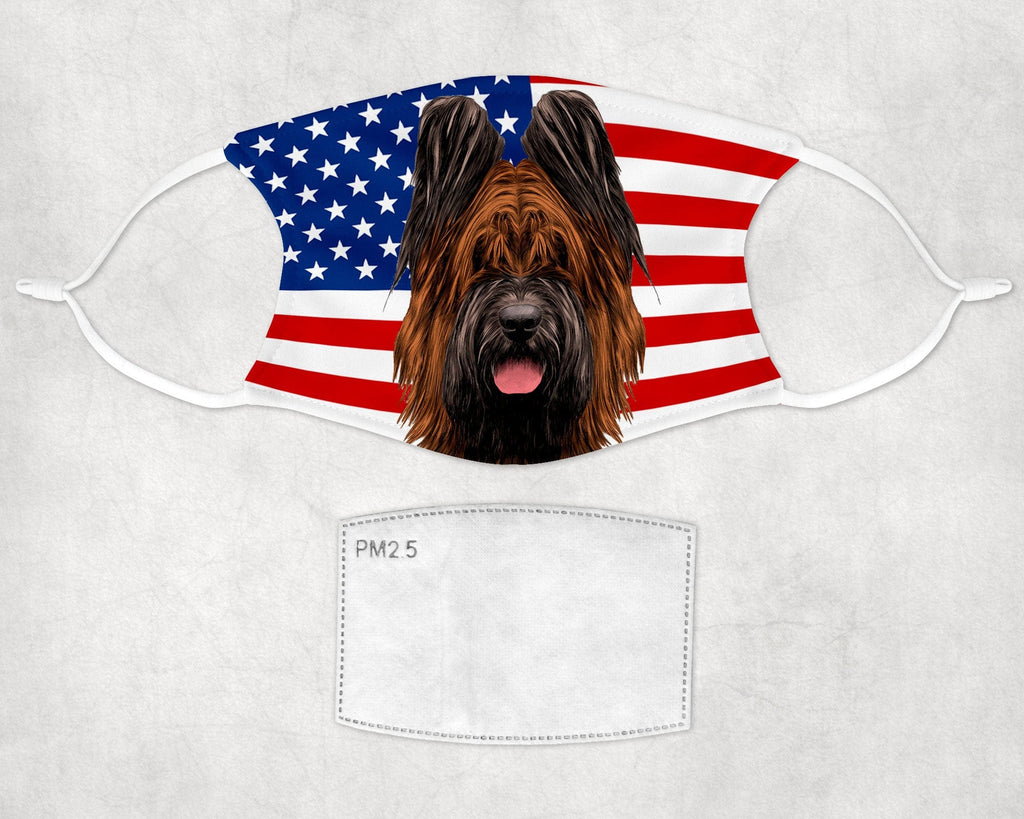 Briard Dog Face Mask Child and Adult sizes made in USA