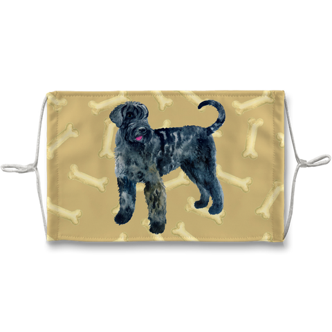 Giant Schnauzer Dog Tan Bones Sublimation Face Mask