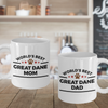 Great Dane Dog Lover Coffee Mug Gift World's Best Dad and Mom Couple Set of 2 Cups