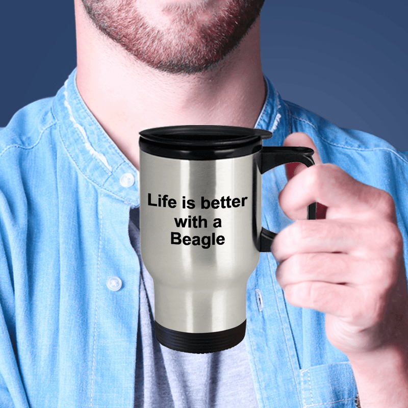 Beagle Dog Lover Gift Life is Better Stainless Steel Insulated Travel  Coffee Mug