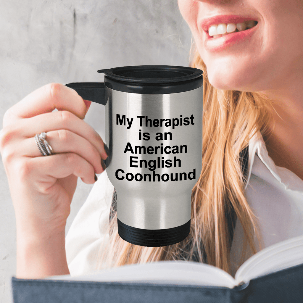 American English Coonhound Dog Therapist Travel Mug