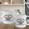 Mastiff Dog Dad and Mom Mugs Set of 2