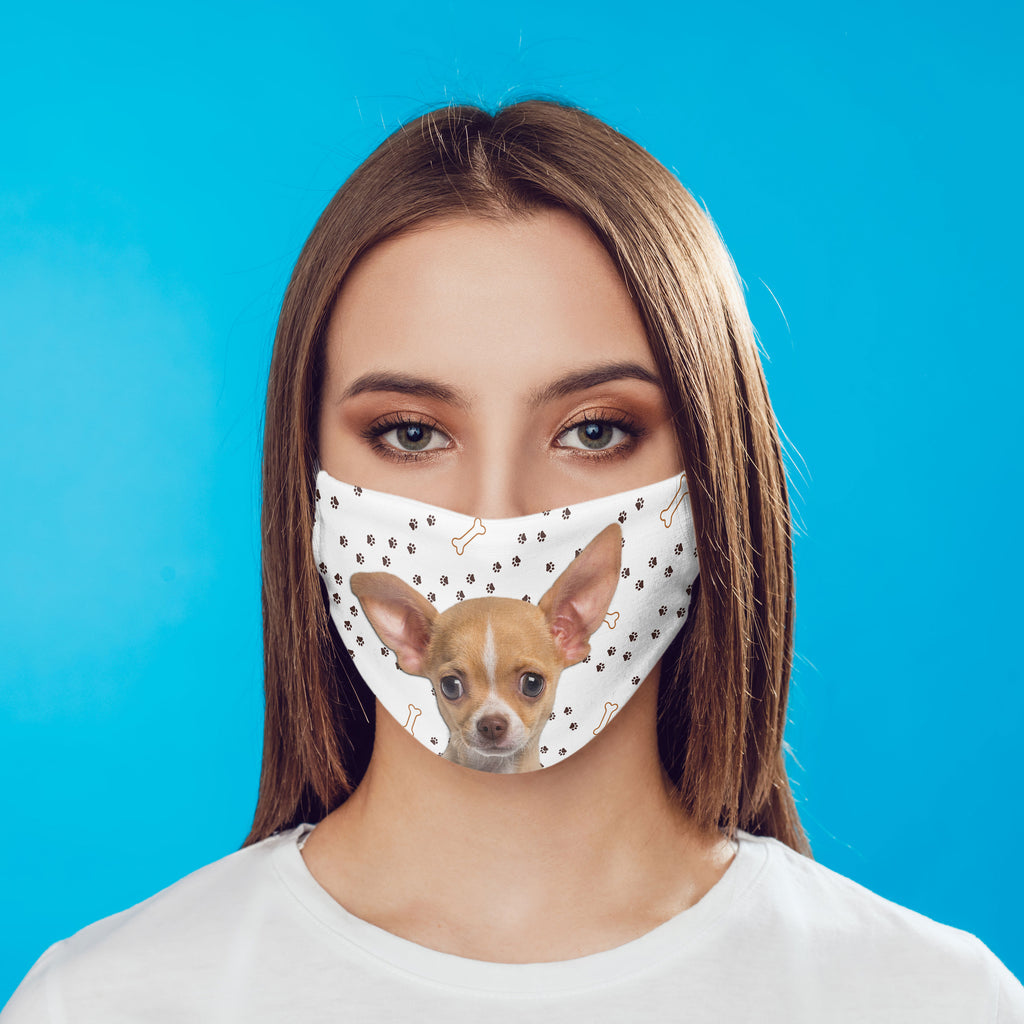 Chihuahua puppy -tan- non-medical Face mask  child and adult sizes Made in USA Washable Reusable
