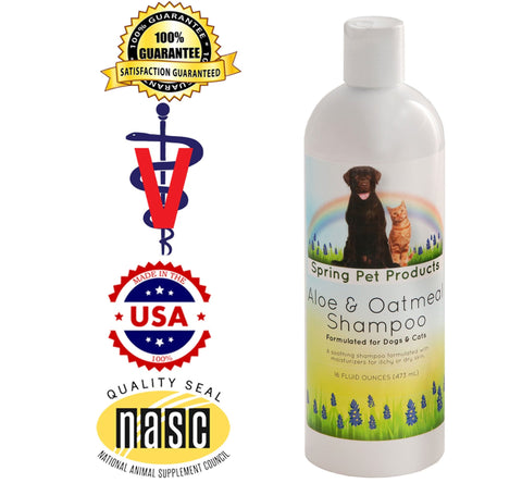 Aloe and Oatmeal Shampoo for Dogs and Cats