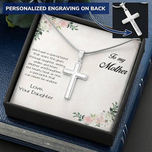 Amazing Cross Pendant Necklace Personalized Gift for Mother from Daughter