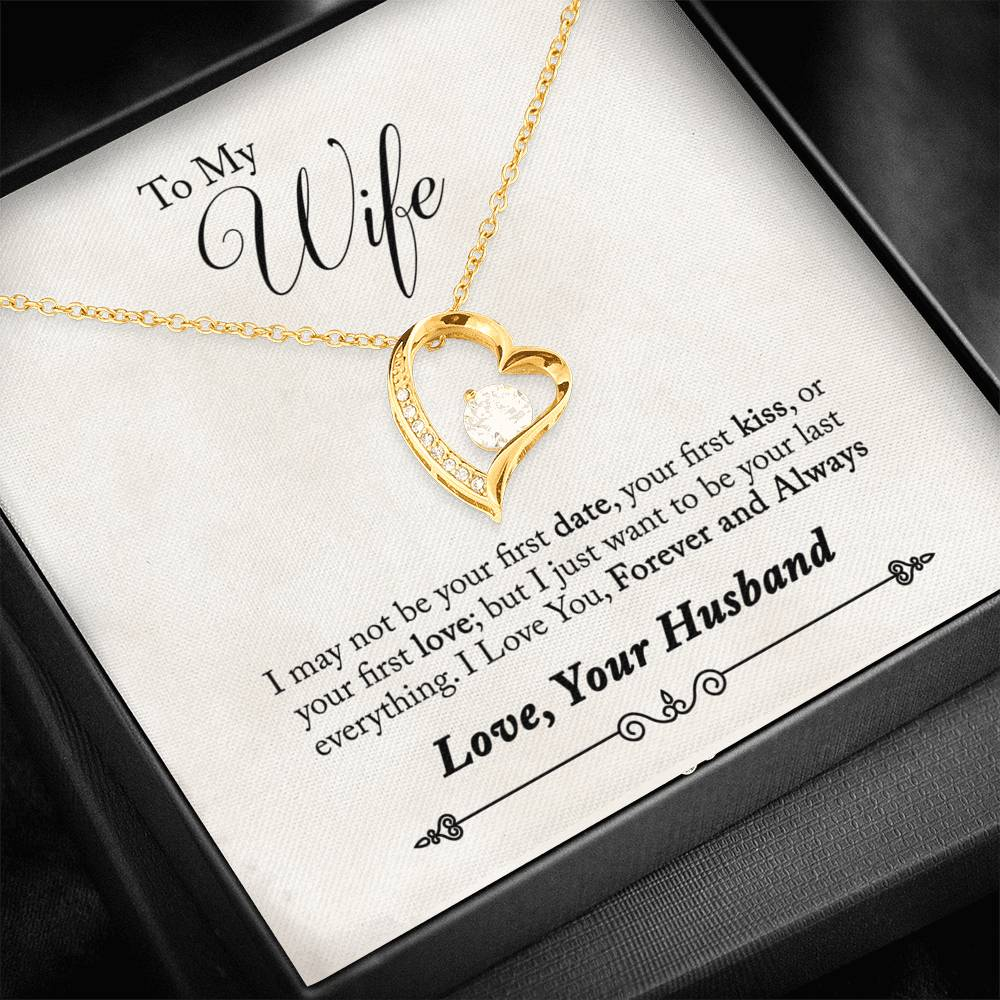 Heart Pendant Necklace to Wife from Husband