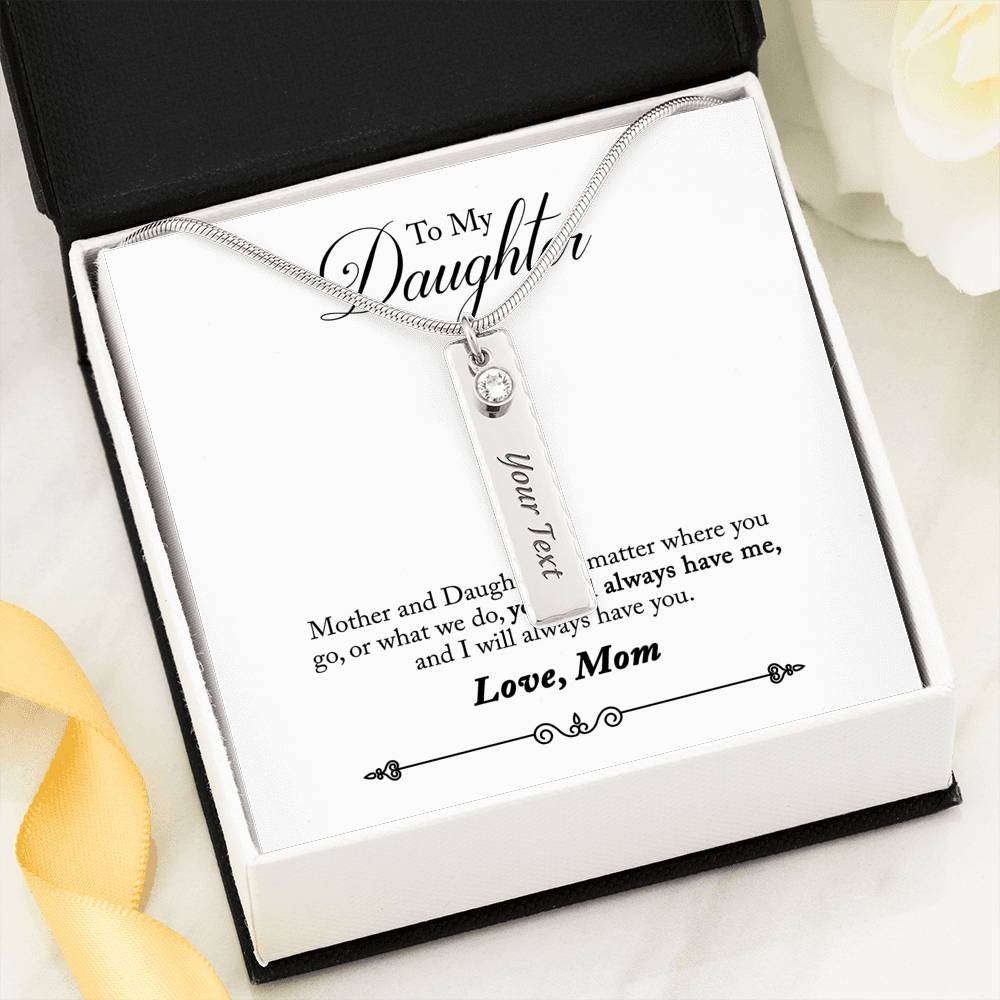 Mother to Daughter Personalized Birthstone Pendant Necklace