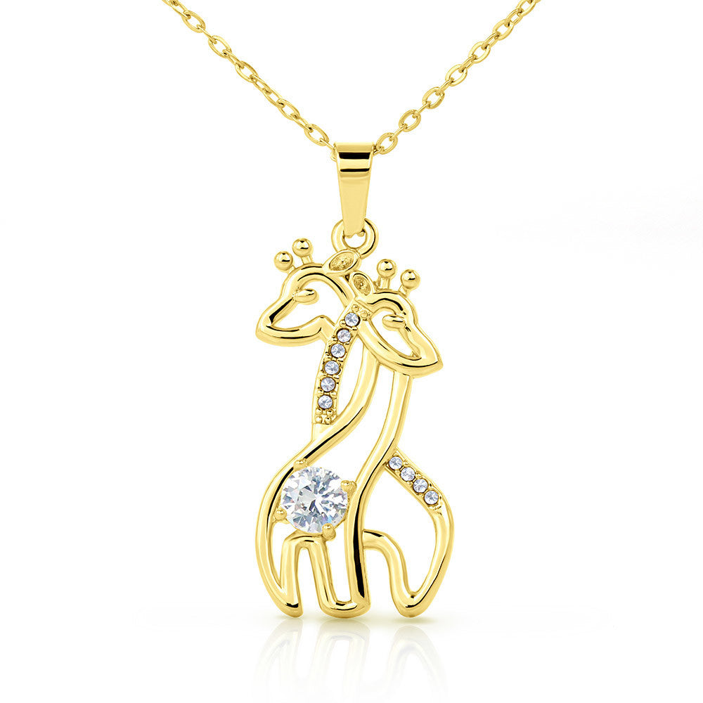 Unbiological Sister Personalized Graceful Love Giraffe Pendant Necklace Gift from Sister