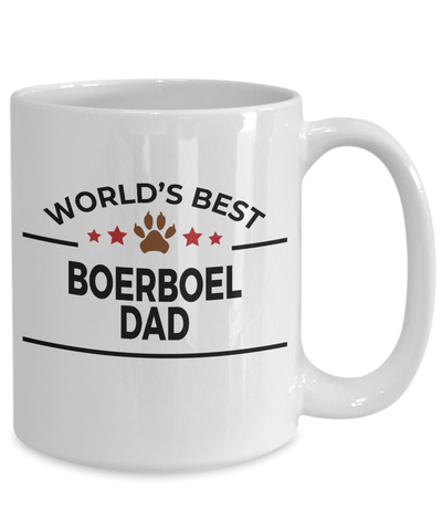 Boerboel Dog Lover Gift World's Best Dad Birthday Father's Day White Ceramic Coffee Mug