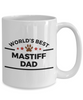Mastiff Dog Lover Mug Gift World's Best Dad Coffee Cup Birthday Father's Day