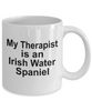 Irish Water Spaniel Dog Owner Lover Funny Gift Therapist White Ceramic Coffee Mug