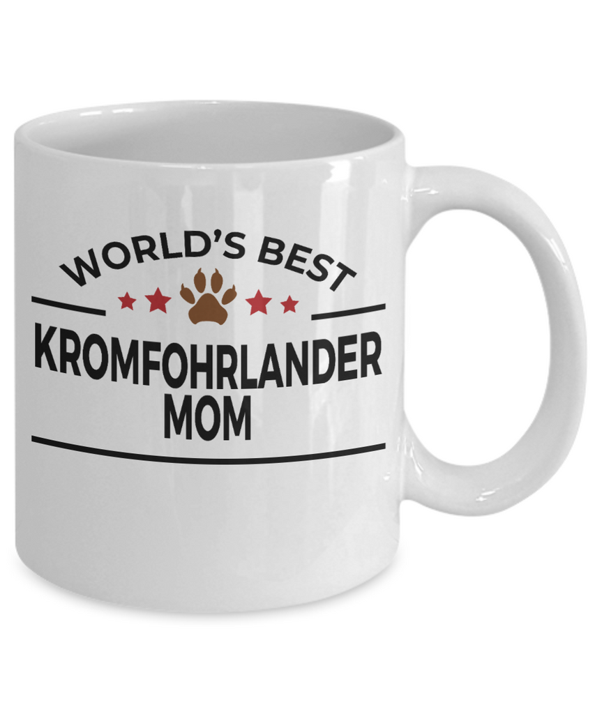 Kromfohrlander Dog Lover Gift World's Best Mom Birthday Mother's Day White Ceramic Coffee Mug