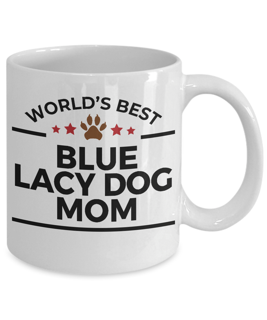 Blue Lacy Dog Lover Gift World's Best Mom Birthday Mother's Day White Ceramic Coffee Mug
