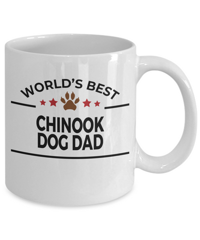 Chinook Dog Lover Gift World's Best Dad Birthday Father's Day White Ceramic Coffee Mug