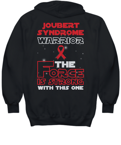Joubert Syndrome Warrior Force is Strong Black Long Sleeve Hoodie