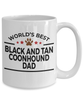 Black and Tan Coonhound Dog Lover Gift World's Best Dad Birthday Father's Day White Ceramic Coffee Mug