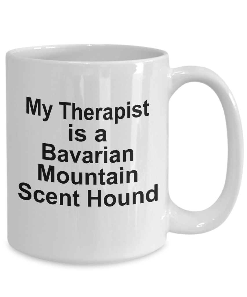 Bavarian Mountain Scent Hound Dog Owner Lover Funny Gift Therapist White Ceramic Coffee Mug