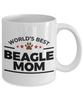 Beagle Dog Lover Gift World's Best Mom Birthday Mother's Day Present White Ceramic Coffee Tea Mug
