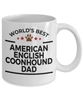 American English Coonhound Dog Lover Gift World's Best Dad Birthday Father's Day White Ceramic Coffee Mug