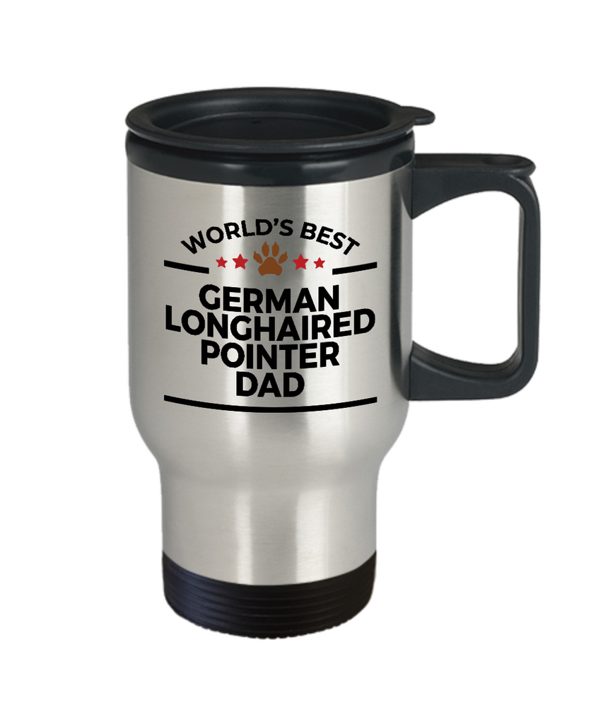 German Longhaired Pointer Dog Dad Travel Coffee Mug