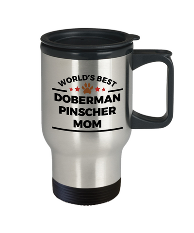 Doberman Pinscher Dog Mom Travel Coffee Mug