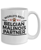 Belgian Malinois Dog Best Partner Police Canine Officer Coffee Mug