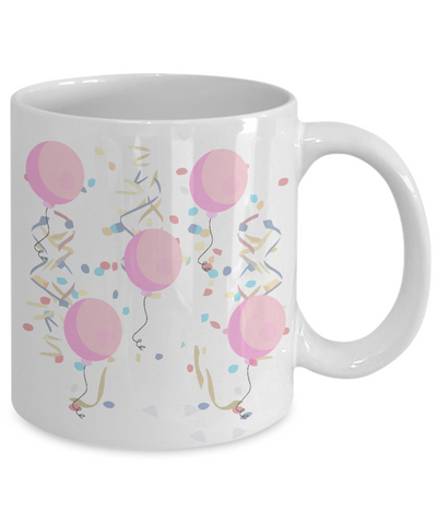 It's A Girl! Baby Birth Announcement White Ceramic Mug