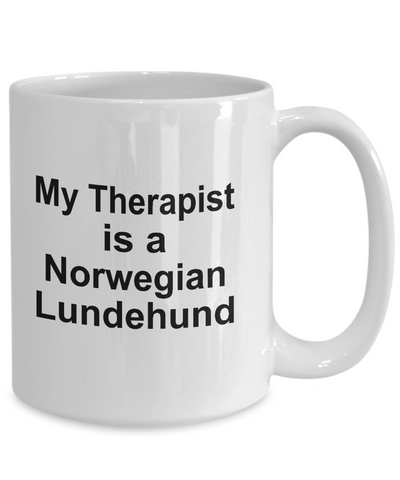 Norwegian Lundehund Dog Therapist Coffee Mug