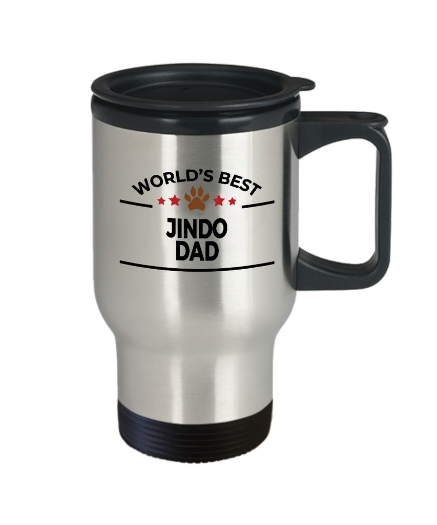 Jindo Dog Dad Travel Mug