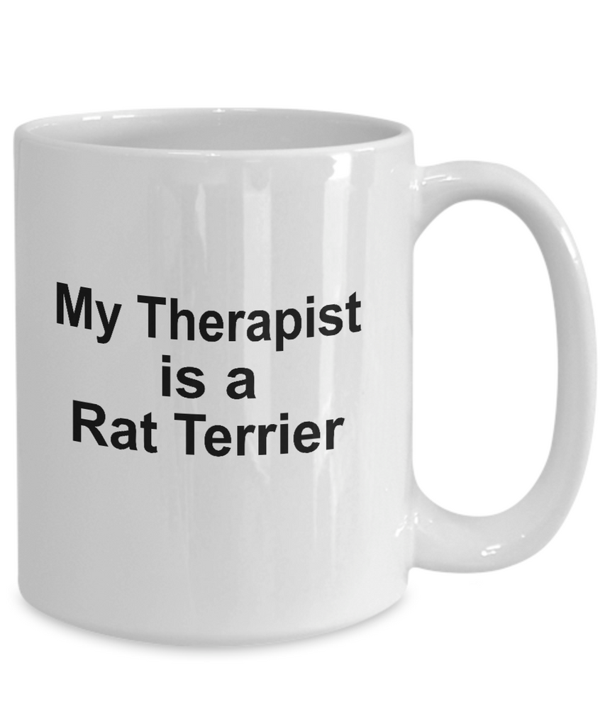Rat Terrier Dog Owner Lover Funny Gift Therapist White Ceramic Coffee Mug