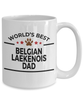 Belgian Laekenois Dog Lover Gift World's Best Dad Birthday Father's Day White Ceramic Coffee Mug