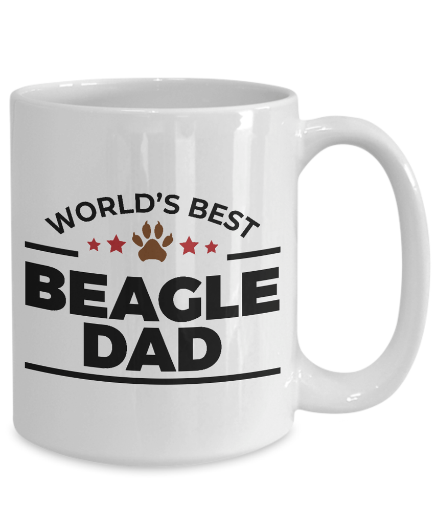 Beagle Dog Lover Gift World's Best Dad Birthday Father's Day Present White Ceramic Coffee Tea Mug
