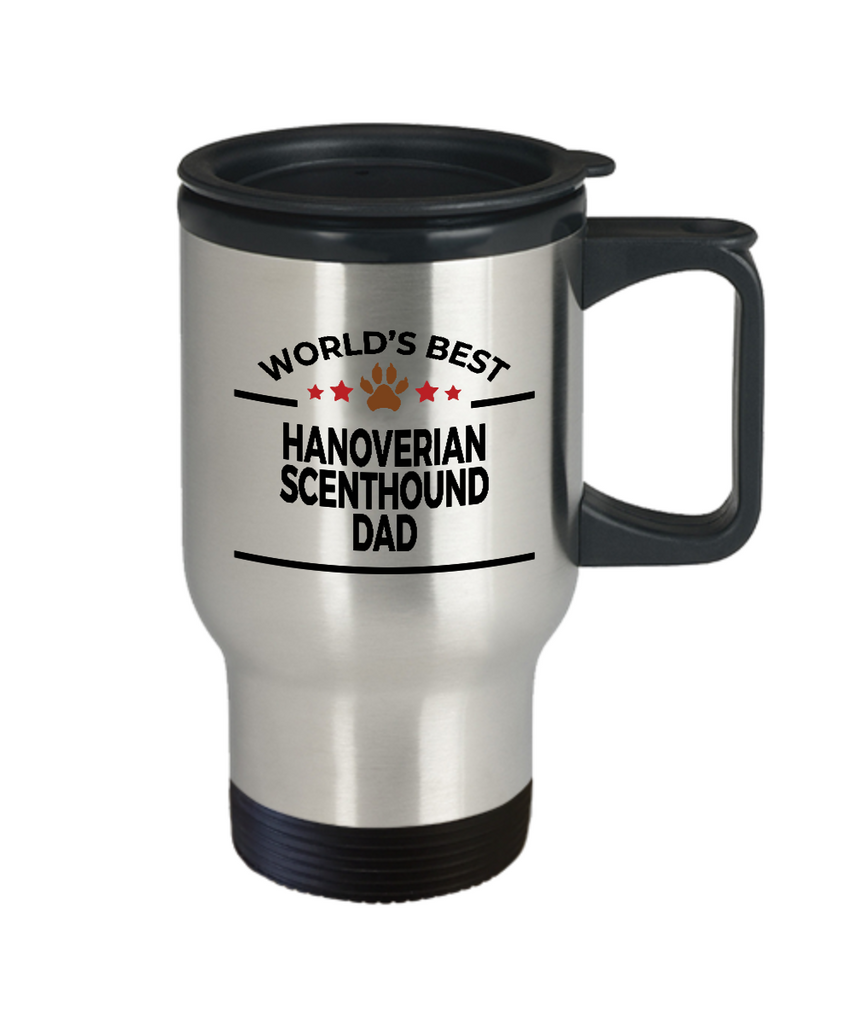 Hanoverian Scenthound Dog Lover Gift World's Best Dad Birthday Father's Day Stainless Steel Insulated Travel Coffee Mug