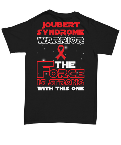 Joubert Syndrome Warrior Black Unisex Tee Shirt