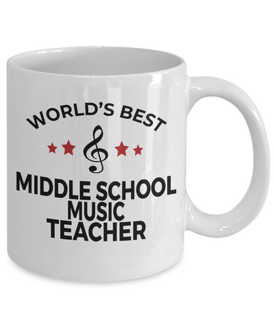 Middle School Music Teacher Mug