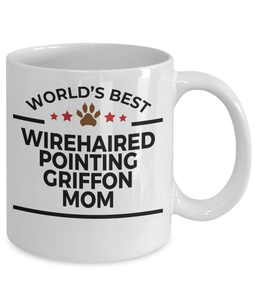 Wirehaired Pointing Griffon Dog Lover Gift World's Best Mom Birthday Mother's Day White Ceramic Coffee Mug