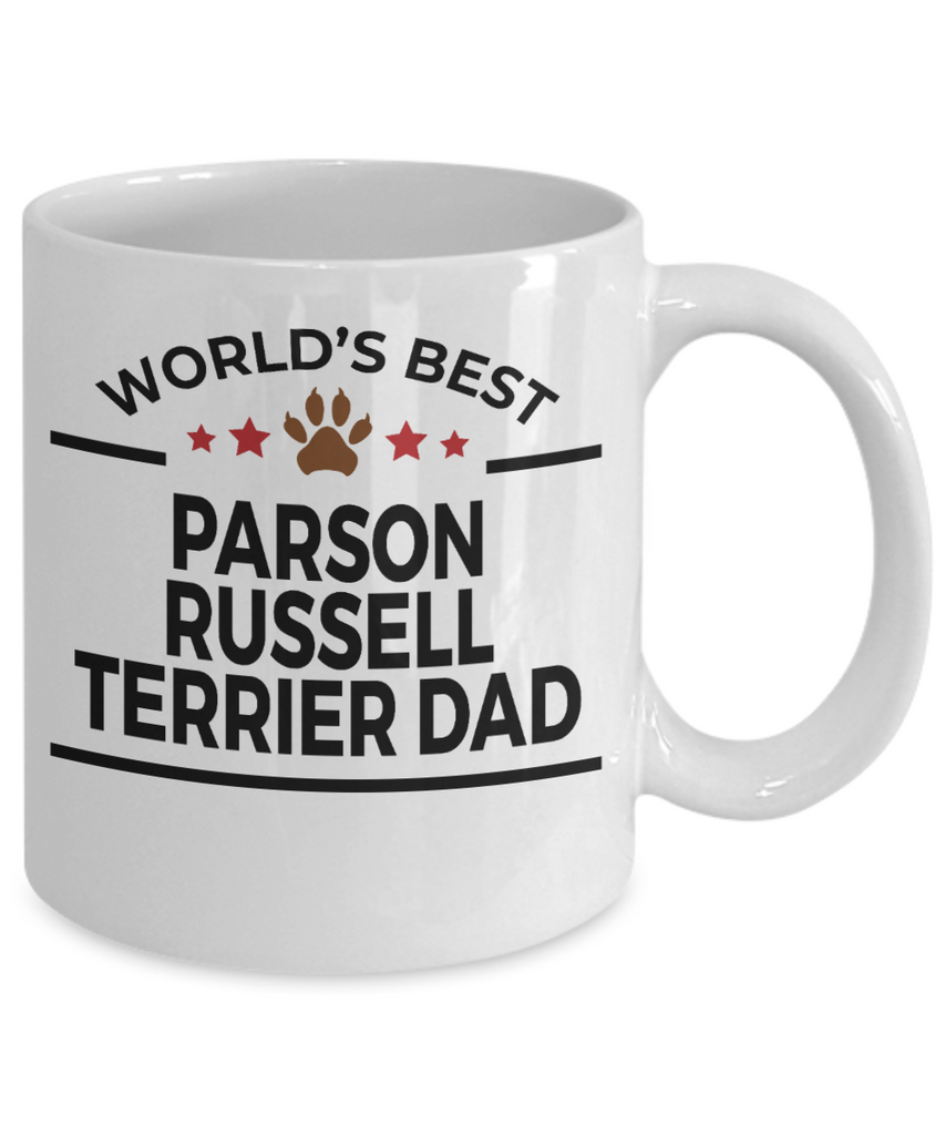 Parson Russell Terrier Dog Lover Gift World's Best Dad Birthday Father's Day White Ceramic Coffee Mug