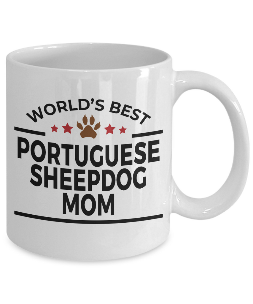 Portuguese Sheepdog Dog Lover Gift World's Best Mom Birthday Mother's Day White Ceramic Coffee Mug