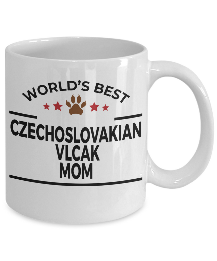 Czechoslovakian Vlcak Dog Lover Gift World's Best Mom Birthday Mother's Day White Ceramic Coffee Mug