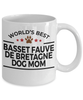 Basset Fauve de Bretagne Dog Lover Gift World's Best Mom Birthday Mother's Day White Ceramic Coffee Mug
