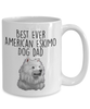 Best Ever American Eskimo Dog Dad Ceramic Coffee Mug