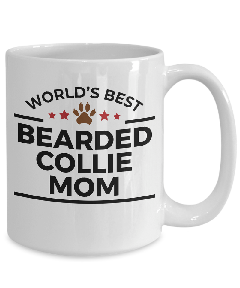 Bearded Collie Dog Mom Coffee Mug